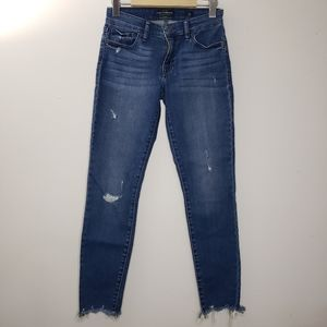 Lucky Brand Skinny Distressed Ankle Jeans Size 26